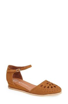 Jeffrey Campbell 'Kalinda' Perforated Suede Flat (Women) available at #Nordstrom
