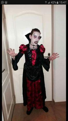 Vampire schmink #zelf gemaakt # carnaval # vampier # 2017 !!!