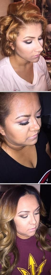 Looking for a hair & makeup artist? Monica Amaya does hair styling and makeup for all events. She can do all hair dos even loose curls. She also does hair and makeup for weddings.