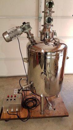 50 Gallon Single Wall Boiler with Electric Heaters & Controller — Moonshine Stills & Distillery Equipment Home Distilling, Distilling Alcohol, Essential Oil Distiller, Essential Oils, Distilling Equipment, How To Make Whiskey, Moonshine Still, How To Make Oil, Pot Still