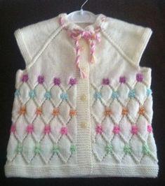 Girl child knitting vest model – Nuray Şenol – Join the world of pin Arm Knitting, Knitting For Kids, Baby Knitting Patterns, Knitting Designs, Crochet Patterns, Crochet Kids Hats, Crochet Baby, Knitted Hats, Knit Crochet