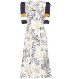 Roksanda Thalia Printed Silk-twill Dress For Spring-Summer 2017