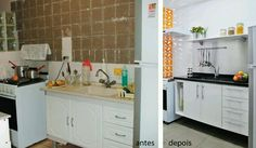 Antes e depois Reforma cozinha