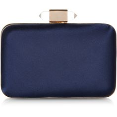 Monsoon Henrietta Satin Box Clutch ($60) ❤ liked on Polyvore