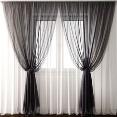 Remarkable Home Curtains For Interior Design - neue Wohnung - Family Room Curtains, Living Room Decor Curtains, Home Curtains, Bedroom Decor, Curtain Ideas For Living Room, Bedroom Blinds, Curtains With Sheers, Big Window Curtains, Gray Sheer Curtains