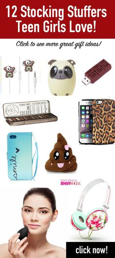 EASY TEEN GIRL GIFTS SHE'LL ADORE! These 12 ideas are highly rated on Amazon with tons of reviews... sure to be a hit as a stocking stuffer for teen girls!