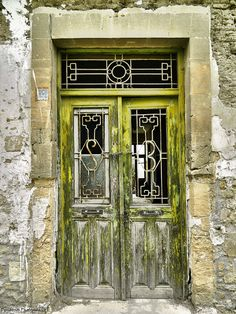 love the patina of this old door