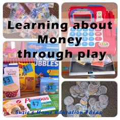 Suzie's Home Education Ideas: Learning about Money through play Montessori Math, Homeschool Math, Homeschooling, Learning Money, Fun Learning, Teaching Activities, Teaching Math, Maths, Interactive Learning