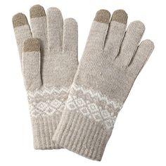 Touchscreen Nordic Gloves - Beige