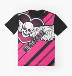 9ff9cbf2cf Bret Hitman Hart - Winged Heart Graphic T-Shirt