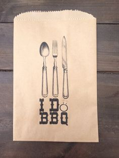 25 I DO BBQ Silverware Pouches by SweetJellyParties on Etsy, $15.00