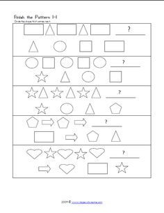 Great free printable worksheet for visual perception activities