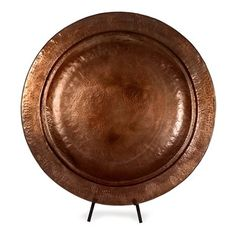 IMAX Worldwide 60004 Copper-Plated Decorative Charger with Stand