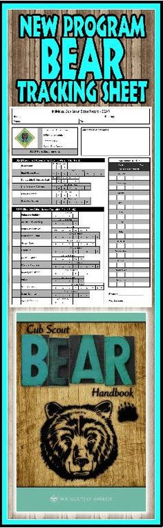 Akela's Council Cub Scout Leader Training: ORIGINAL Cub Scout Bear PRINTABLE Record Tracking and Organization Work Sheet for the New Program - Free - with Adventures and Cyber Chip and Award requirements to help Leaders and Parents Cub Scout Games, Cub Scout Activities, Scout Mom, Girl Scouts, Cub Scouts Wolf, Cub Scout Crafts, Scout Leader, Eagle Scout, Bear Cubs