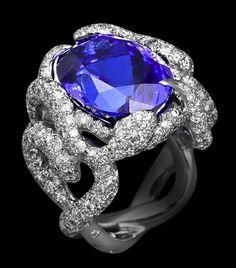 chaumet jewelry | Chaumet's Sapphire & Diamond Snake Ring