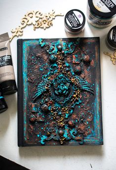 Crafty by AgnieszkaBe: I-Kropka Mixed Media Canvas, Altered Art, Madness, Scrapbooking, Notes, Crafty, Report Cards, Scrapbooks, Notebooks