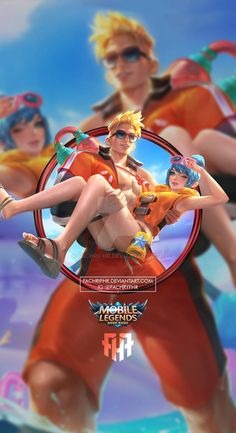 Wallpaper Phone Claude and Fanny Lifeguard by FachriFHR on DeviantArt Joker Iphone Wallpaper, Cute Emoji Wallpaper, Hero Wallpaper, Aesthetic Iphone Wallpaper, Galaxy Wallpaper, Mobile Wallpaper Android, Mobile Legend Wallpaper, Mobiles, Miya Mobile Legends