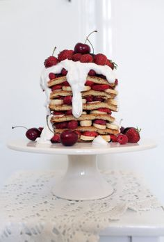 Pancake Cake with Fresh Fruit (Gluten Free)