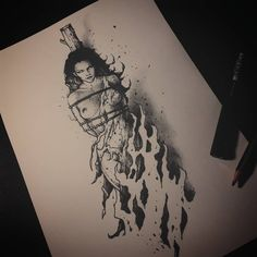 Dark Drawings, Pencil Art Drawings, Tattoo Drawings, Art Sketches, Arte Horror, Horror Art, Witch Tattoo, Angel Drawing, Dark Tattoo