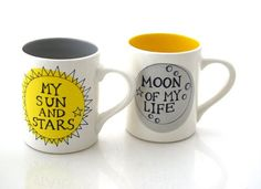 These adorable mugs for the true moon of your life.   25 Game Of Thrones Products To Help Ease Your Pain