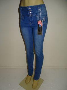 Diamante Brazilian Push up Butt Lift Levanta Cola Colombian Skinny Blue Jeans #Diamante #SlimSkinny