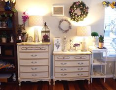 Vintage French Provincial Tall 5 Drawer Dresser by ForgetMeNotsCottage, $425