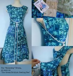 The Walkaway dress from The Great British Sewing Bee. Just had to try it!