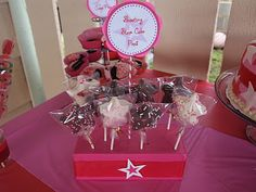 American Girl Party: shooting star cake pops