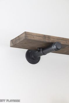 DIY Pipe Shelf Tutorial With Directions For The Home Pinterest - Diy build industrial hanging shelf