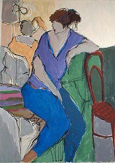 Women in Purple (15x11 serigraph)view more by Itzchak Tarkay