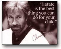 He is talking about Martial Arts in general, not just Karate, as Chuck Norris is a Taekwondo Martial Artists.  What he says is very true.