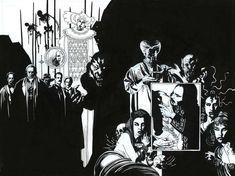 Mike Mignola: Francis Ford Coppola's Dracula paperback cover Comic Book Artists, Comic Artist, Comic Books Art, Vampires, Storyboard, Illustrations, Illustration Art, Mike Mignola Art, Midtown Comics