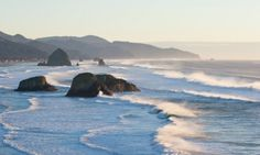 Top 10 Don't-Miss Spots on the Oregon Coast. (Pictured: Ecola State Park in Cannon Beach)