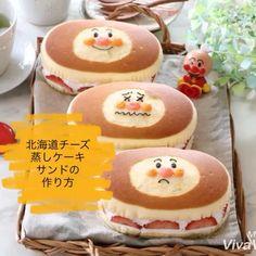 sana ◡̈*✧さんはInstagramを利用しています:「𖤣𖤣⌂𖤥𖤣2018.11/12 , , おはようございますǁ͚٩(•͈⌔•͈⑅)۶ , #北海道チーズ蒸しケーキ で #アンパンマンチーズ蒸しケーキ を作りました🍰🙌 , , 今回は #いちごサンド 🍓 中身を苺に変えるだけでショートケーキに変身😍🍰🍰 ,…」 Food Drawing, Sweet Tooth, Food And Drink, Cupcakes, Drinks, Desserts, Recipe, Instagram, Recipes