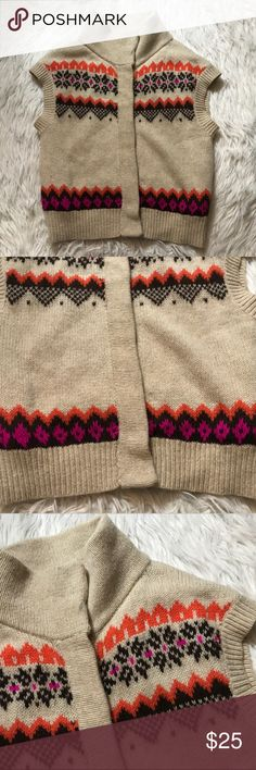 Free People Fair Isle Sweater Vest Great preowned condition - snap button closure - one button loose and needs some tightening Free People Sweaters