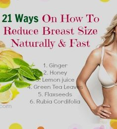 Decrease Breast Size Naturally: Remedies | The shorts, Natural and ...