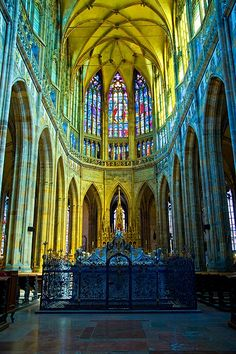 St. Vitus Cathedral, Prague, Czech Republic  #travel  #cathedral