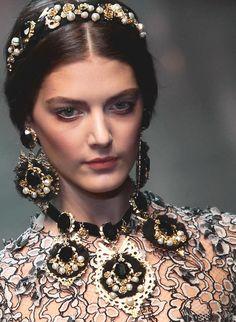 Katryn Kruger at Dolce and Gabbana   Fall 2012