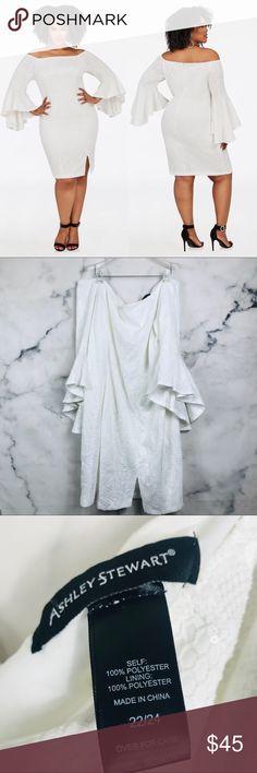 712373bec2d NEW Ashley Stewart White Off Shoulder Sequin Dress NEW Ashley Stewart White  Off Shoulder Sequin Dress