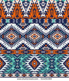 retro colors tribal vector seamless navajo pattern. aztec abstract geometric art print. ethnic hipster vector background. Wallpaper, cloth design, fabric, paper, cover, textile template.