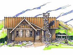 Tea Cup Front Elevation -- Natural Element Homes