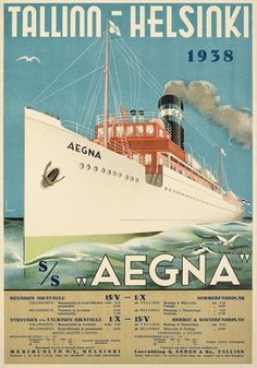 Aegna Tallinn-Helsinki Travel Ads, Travel Europe, Germany Travel, Travel Posters, Severe Storms, Ad Car, East Germany, Old Ads, North Africa