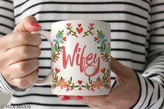 Wifey Mug Bride Mug Wedding Gift Wedding Coffee Mug by MixMugs