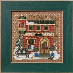 It's so hard to find bookstores or libraries but here's a cutie.  - MILL HILL KIT  Buttons & Beads Winter Series by DebiCreations, $11.99