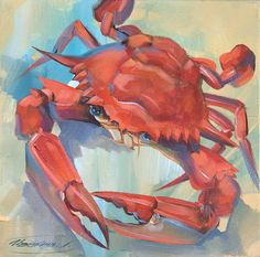Red Crab Painting  - Red Crab Fine Art Print