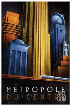 Metropole du Centre Art Print by Michael L. Kungl at Art.com