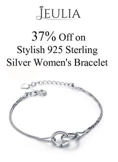 JUELIA is offering 37% discount on Stylish 925 Sterling Silver Women's Bracelet. Place your order now and avail this offer.  For more Jeulia Coupon Codes visit:   http://www.couponcutcode.com/stores/jeulia/
