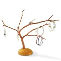 DIY  Clay  Jewelry Tree