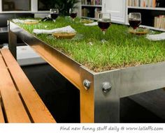 not exactly a location, but an incredible unique idea: grass table