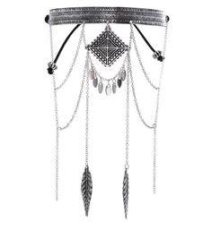 Bracelet de bras argenté gravé effet drapé | New Look